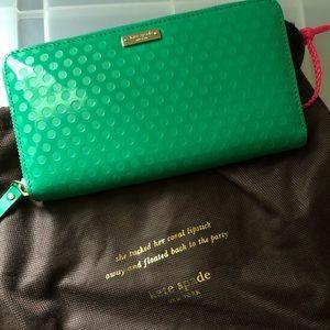 Kate Spade wallet (green)